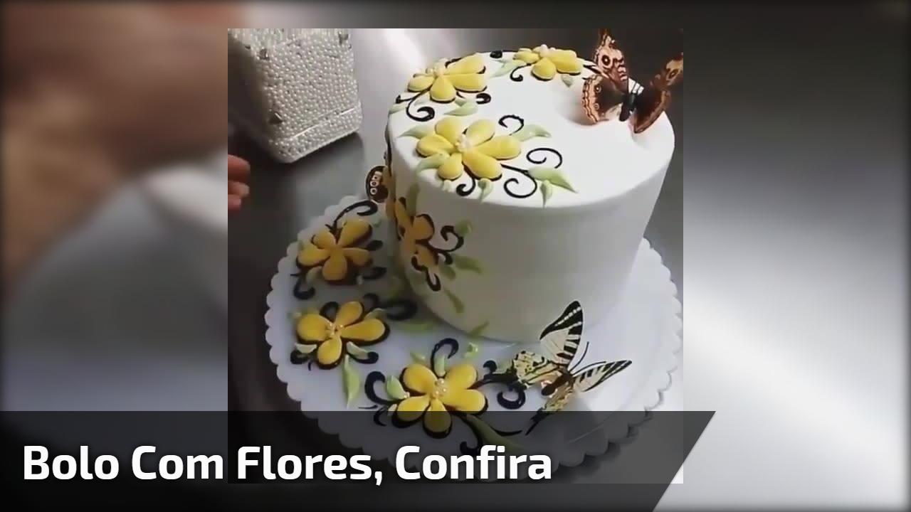 Confeito de bolo com flores, uma verdadeira obra de arte, confira!!!