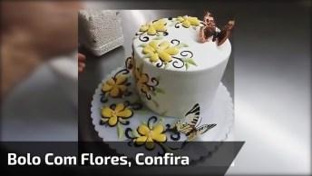 Confeito De Bolo Com Flores, Uma Verdadeira Obra De Arte, Confira!
