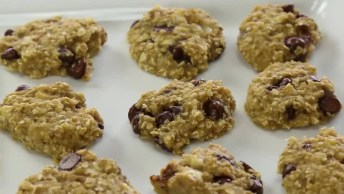 Cookies De Banana, Chocolate E Aveia, Simples E Rápido De Fazer!
