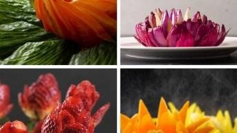 Cortes De Legumes E Frutas Que Deixarão Sua Mesa Muito Mais Bonita!