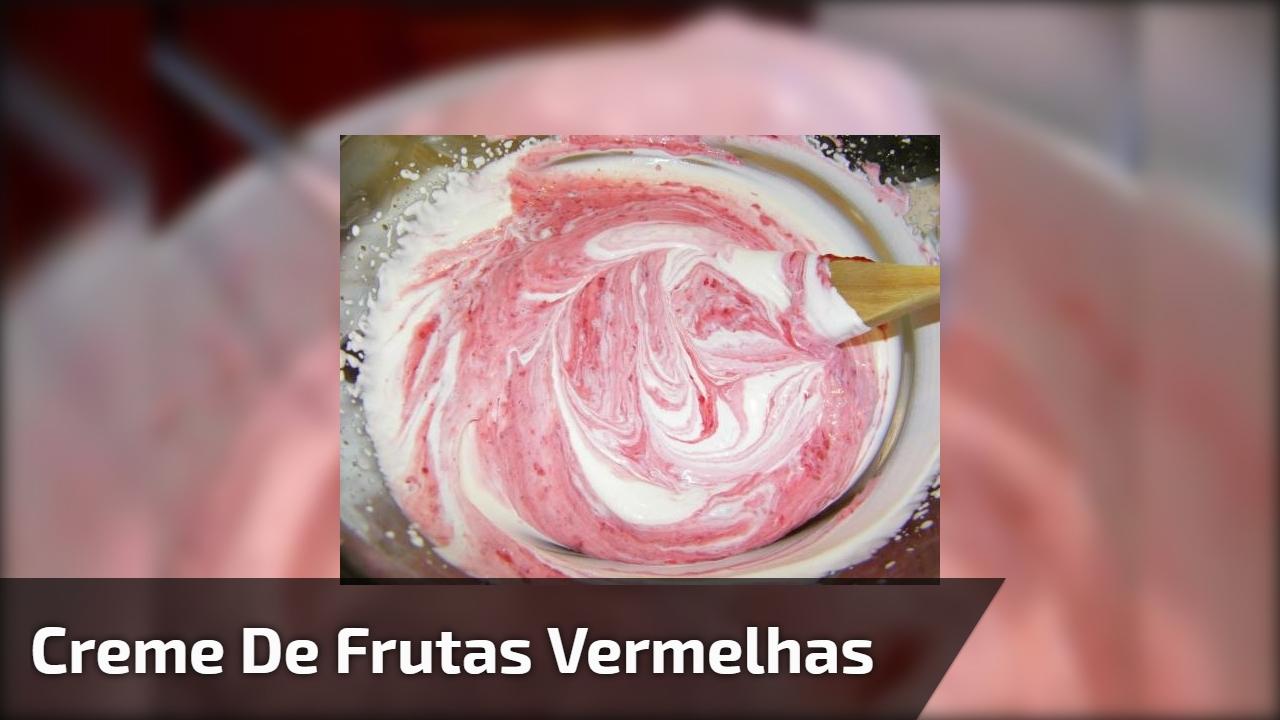 Creme de frutas vermelhas para decorar bolos e Naked Cakes!