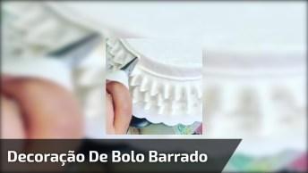 Decoração De Bolo Barrado De Saia, Uma Ideia Que Fica Muito Lindo!