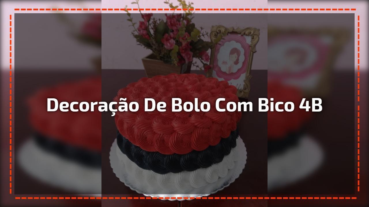 Decoração de bolo com bico 4B