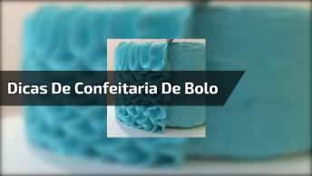 Dicas De Confeitaria De Bolo, Aprendendo Decorar A Lateral!