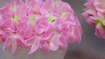 Dicas De Decoração De Bolo Com Flores Com Cores Rosa E Verde!