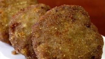 Discos De Carne Com Pão, Uma Ideia Para Quem Quer Simplificar O Almoço!
