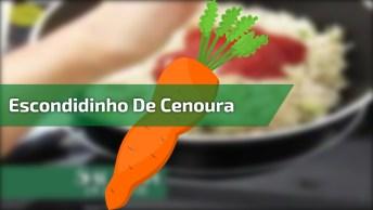 Escondidinho De Cenoura Com Recheio De Frango, Fica Uma Delicia!