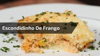 Escondidinho De Frango Com Creme De Milho, Uma Receita Incrível!