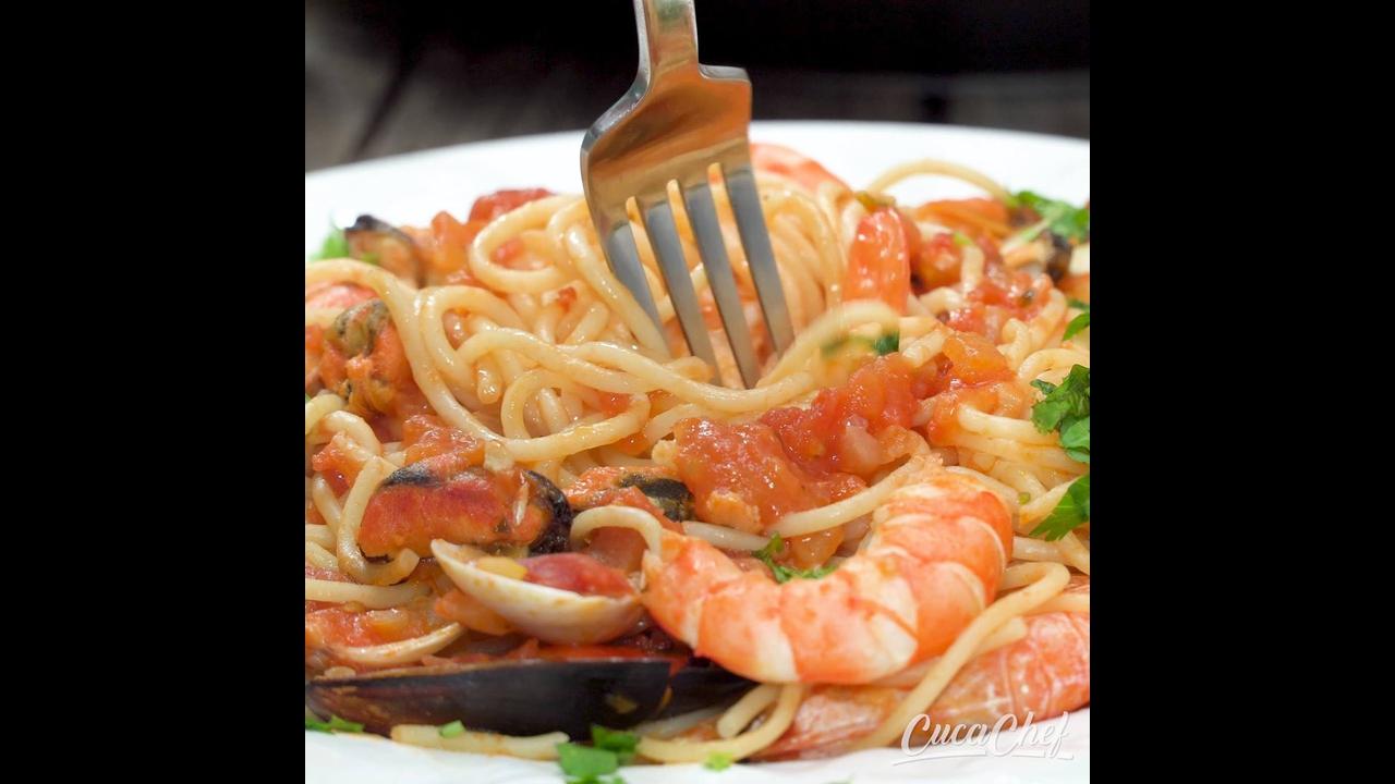 Espaguete com mariscos, uma receita de dar água na boca