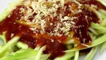 Espaguete De Abobrinha, Uma Alternativa Para Seu Almoço!