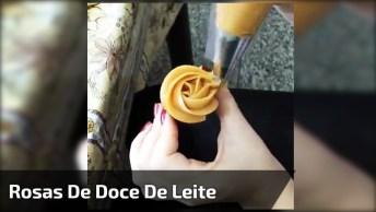 Fazendo Rosas De Doce De Leite Em Mini Cupcakes, Fica Muito Fofo!