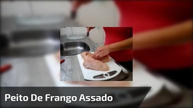 Filé De Peito De Frango Assado Com Creme De Cebola, Fica Uma Delicia!