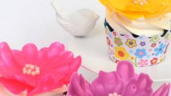 Flores Feitas Com Chocolate Branco, Olha Só Que Dica Super Legal!