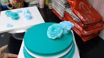 Flower Cake - Um Bolo Decorado Com Flores Que Fica Lindo!