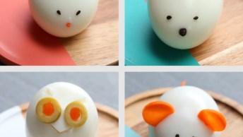 Formas Divertidas De Decorar Ovos Cozidos, As Crianças Vão Amar!
