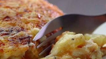 Gratinado De Batata Com Frango E Barbecue, Uma Receita Inigualável!
