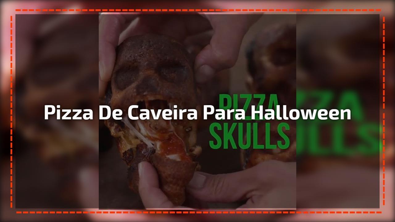 Pizza de Caveira para Halloween