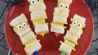 Halloween - Sanduíches De Múmias Para Sua Festa Ficar Ainda Melhor!