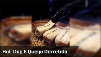 Hot-Dog Com Uma Camada De Queijo Derretido Por Cima, Esse Lanche É Demais!