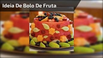 Ideia De Bolo De Fruta, Diferente E Saudável, Confira E Compartilhe!
