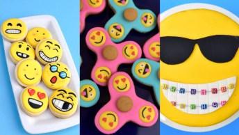 Ideia De Bolo E Biscoitos Com Emojis, Todos Eles Ficaram Lindos!