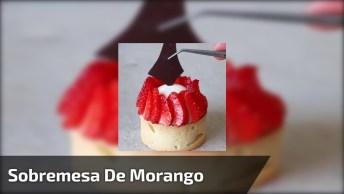 Ideia De Sobremesa De Morango Com Chocolate Na Cestinha, Que Lindo!