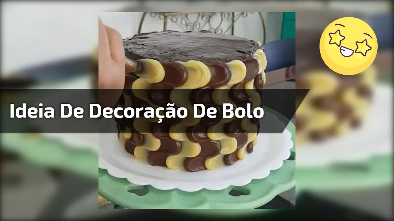 Ideia para decorar seu bolo na lateral, super fácil de fazer!