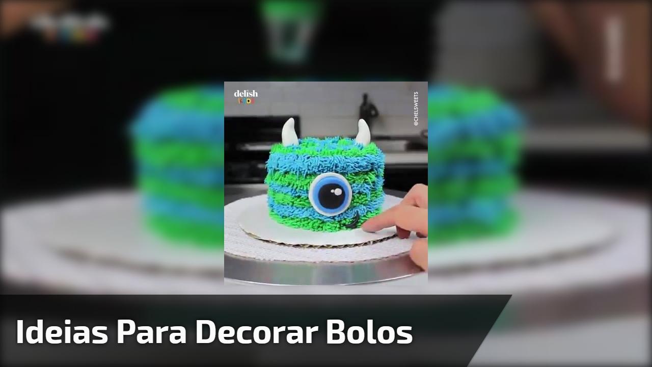 Ideias para decorar bolos