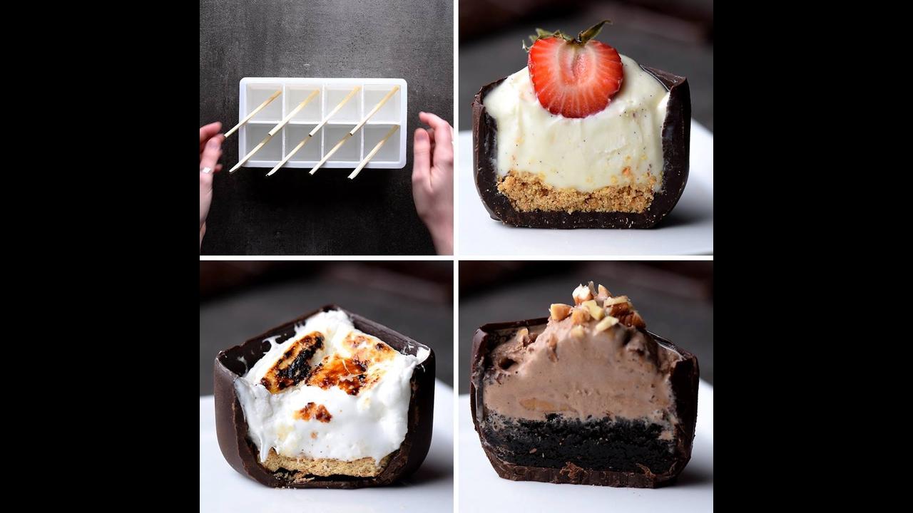 Ideias para fazer com chocolate e forminhas de gelo
