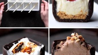 Ideias Para Fazer Com Chocolate E Forminhas De Gelo, Muito Legal!