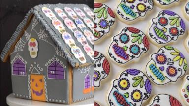 Ideias Para Fazer No Halloween, Tem Caveira Mexicana E Casinha!