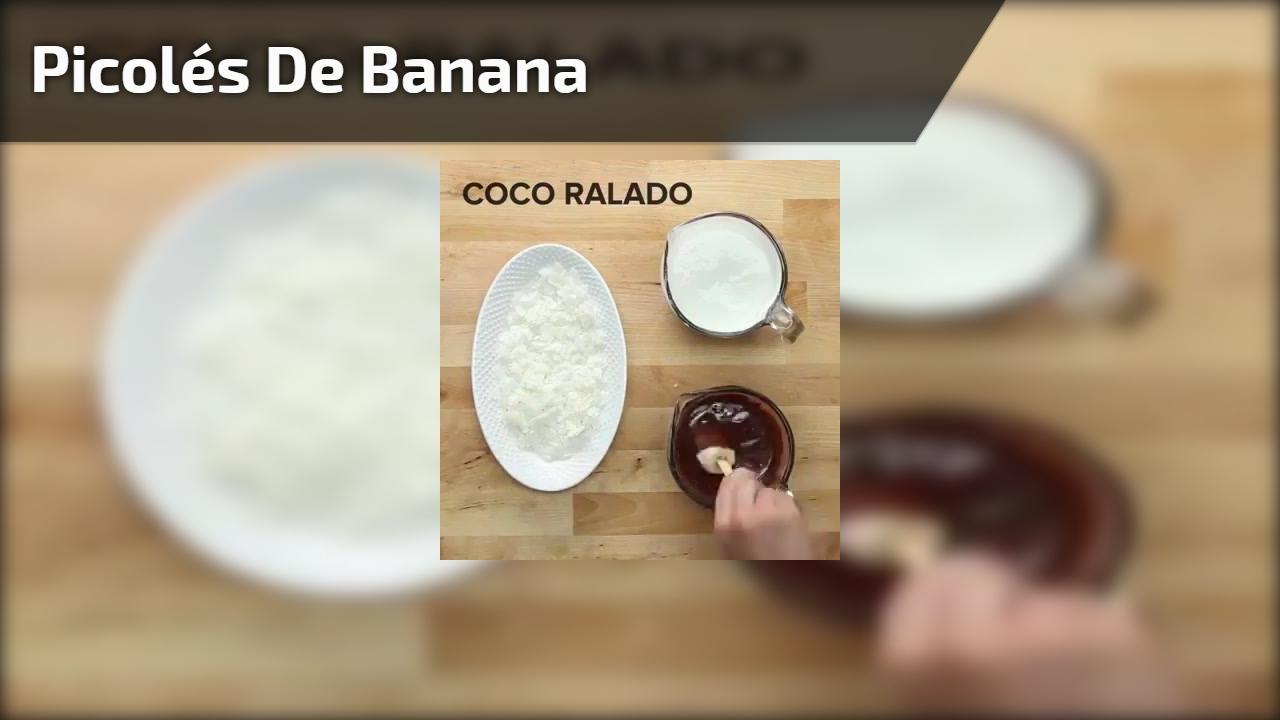 Picolés de banana