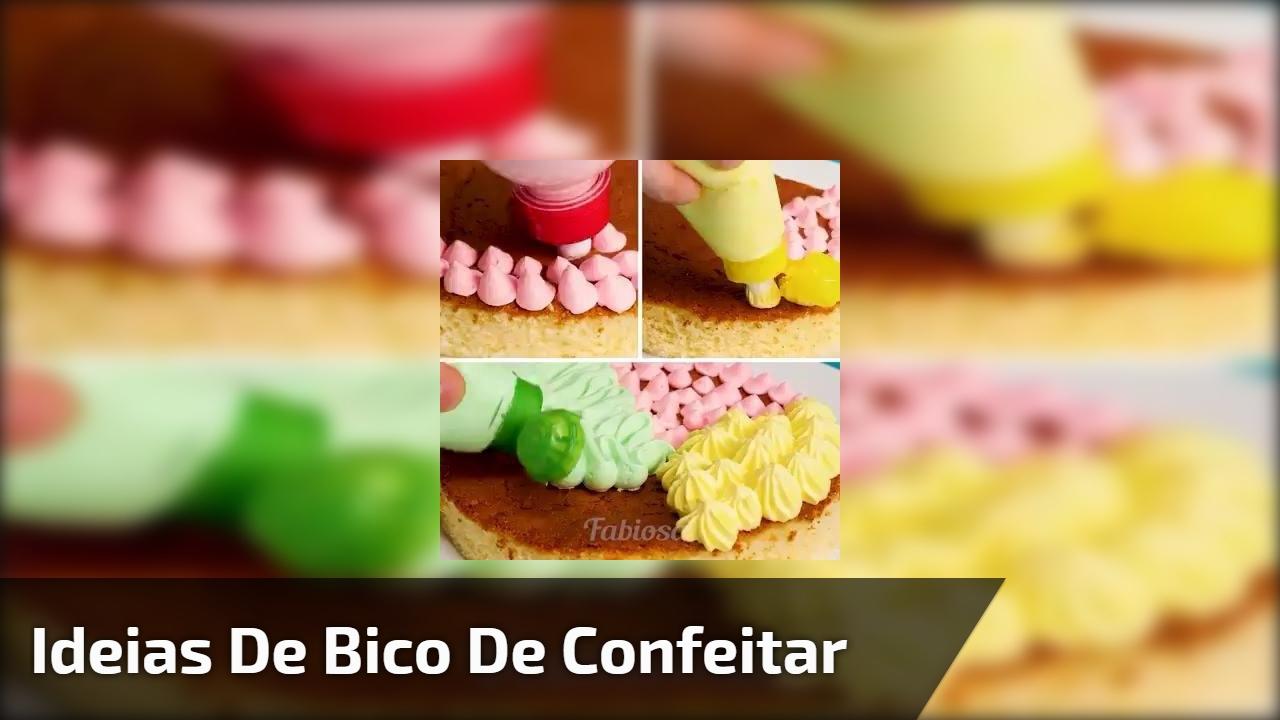 Ideias para improvisar na hora de criar seu bico de confeitar bolo!