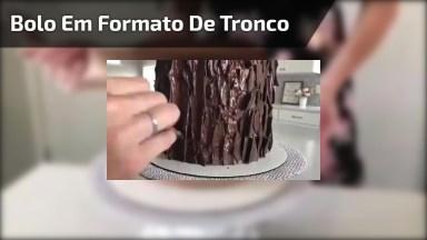 Inspiração De Decoração De Bolo Em Formato De Tronco De Árvore, Veja Que Legal!