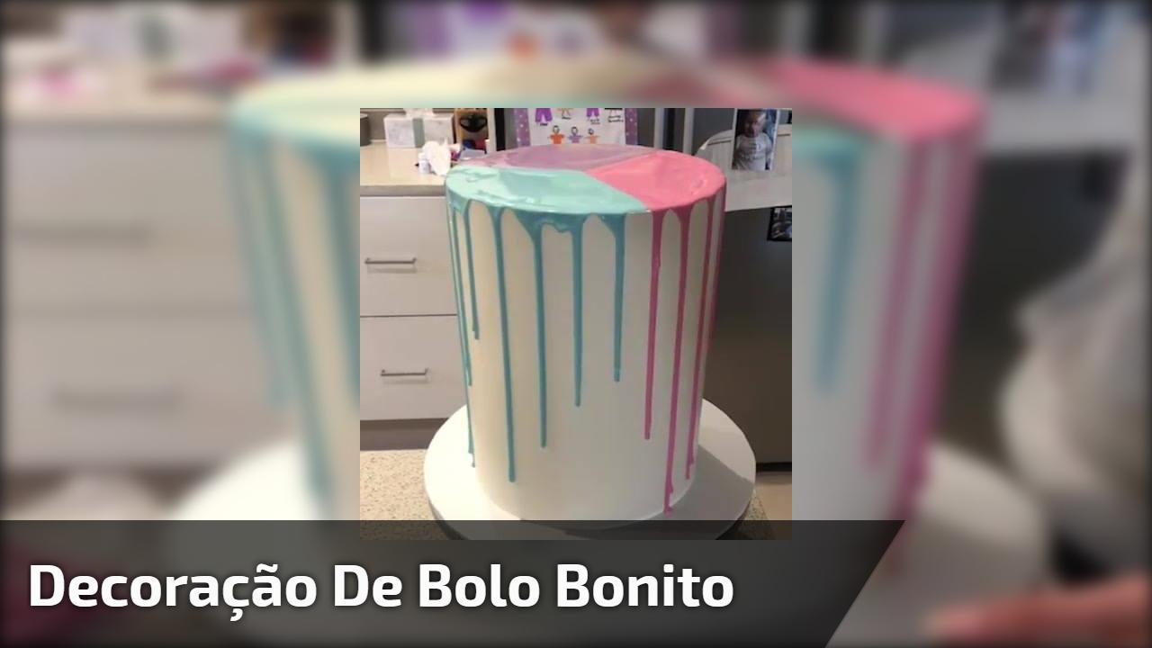 Inspiração de decoração de bolo, olha só que lindo e super fácil de fazer!!!