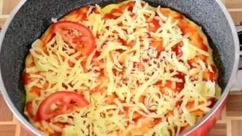 Inspiração De Pizza Na Frigideira, Olha Só Que Perfeita Que Fica!