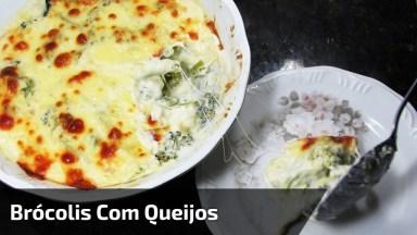 Low Carb - Brócolis Cremoso Com Três Queijos, Fica Uma Delicia!