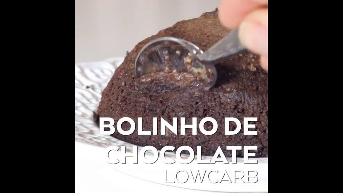 Low Carb - Receita de bolo de chocolate feito no Microondas