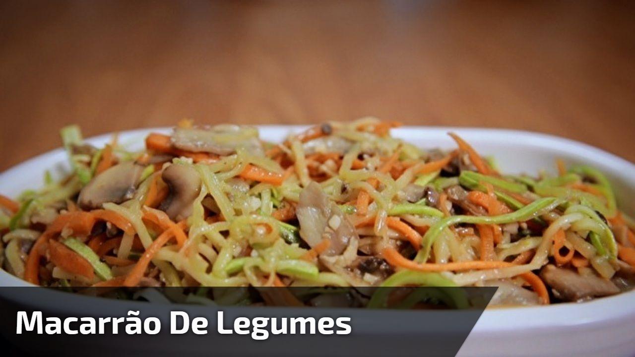 Macarrão de Legumes, aprenda a fazer esta receita super saudável!