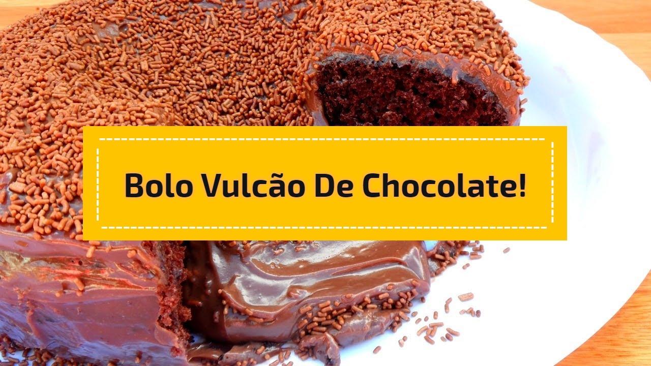 Bolo vulcão de chocolate!