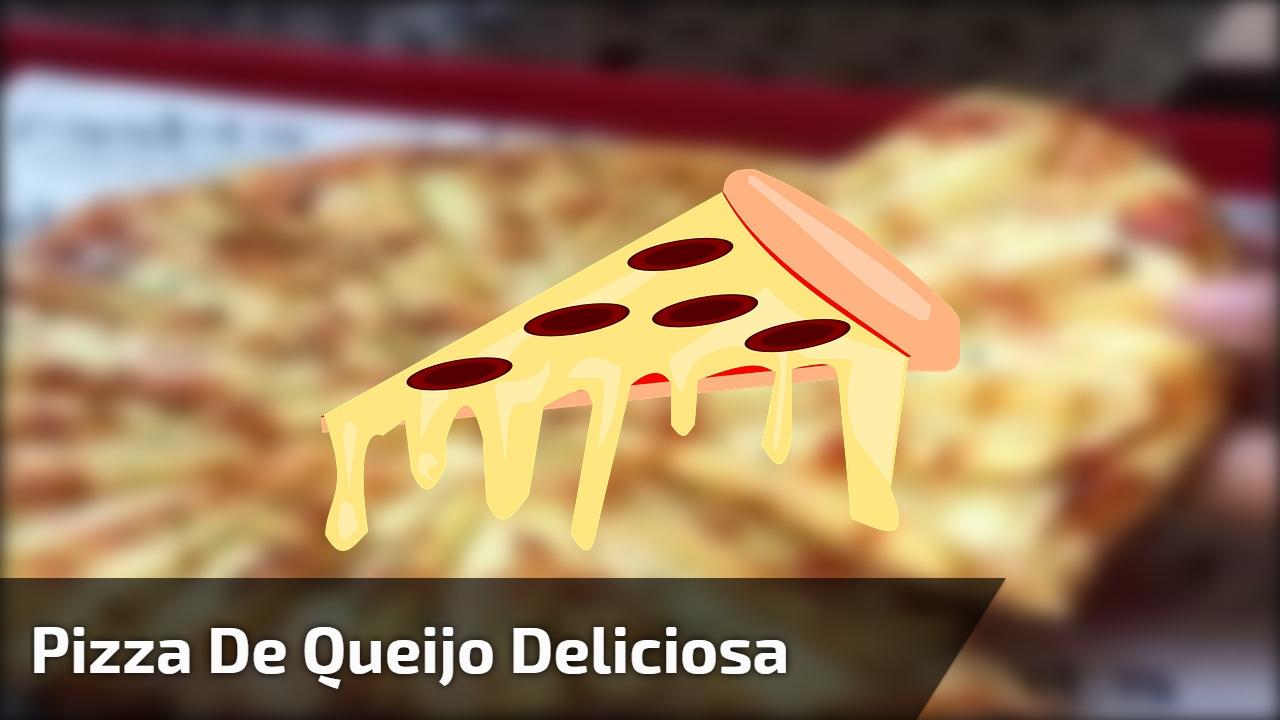 Pizza de queijo deliciosa