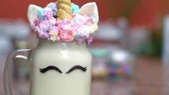 Milk Shake Unicórnio - Você Vai Se Apaixonar E Querer Fazer Hoje Mesmo!