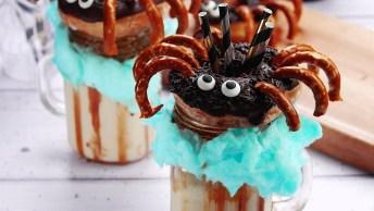 Milkshakes Para Halloween - Com Aranhas Comestíveis, Confira!