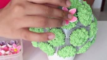 Mini Cupcake, Juntos Eles Formam Um Lindo Bouquet, Ótima Ideia!