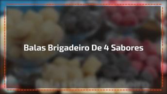 Modo De Preparo De Balas De Brigadeiro De 4 Sabores, Confira!