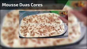 Mousse Duas Cores De Chocolate Com Castanha De Caju, Fica Uma Delicia!