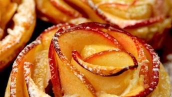 Muffins De Maçã E Queijo Cremoso, Uma Receita Maravilhosa!