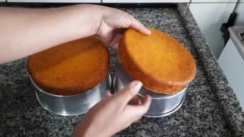 Naked Cake De Cenoura Com Creme De Chocolate, Que Delicia!
