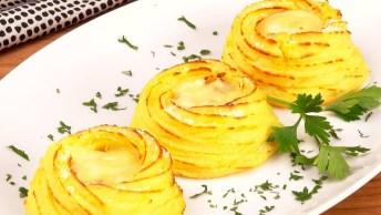 Ninhos De Batatas Com Queijo E Bacon, Que Receita Diferente!