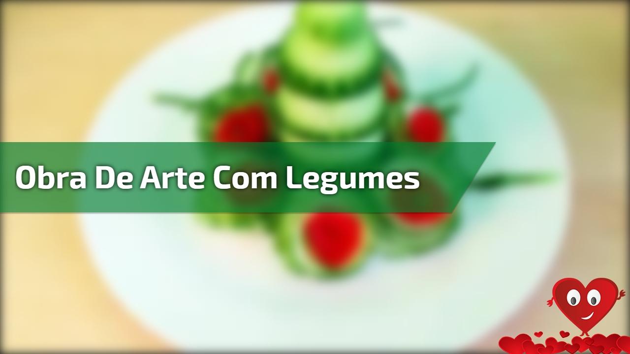 Obra de Arte com legumes